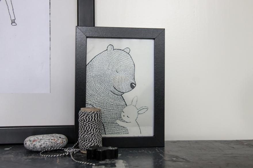 Illustraties kinderkamer beer etsy tekeningen zwart wit kinderen